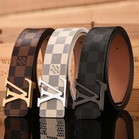 Wholesale Free High Quality Music - Hot Mascot fashion men Black Golden Silver buckle belts High quality belts designer genuine leather belt for men women belts for gift