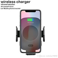 Wholesale motor clamps online - C9 Car Mount Wireless Charger For iPhone X Plus Samsung S9 S8 Quick Charger Fast Advanced Expansion And Contraction Of Motor Driven Clamp