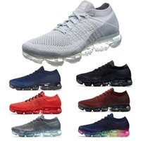 Wholesale Performance Running - New 2018 Vapormax Mens Running Shoes Performance-Woven Upper Breathable shoes For Men Sneakers Women Athletic Sport Shoe Hot Corss Hiking Jo