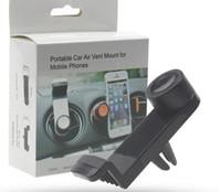 подставка для iphone для велосипедов оптовых-360 градусов вращающийся вентиляционное отверстие крепление велосипеда автомобиля сотовый телефон держатель двойной C стиль стенд портативный универсальный для Iphone Samsung с розничной коробке