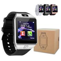 kaliteli gps izle toptan satış-Yüksek kaliteli pil DZ09 Akıllı İzle Dz09 Saatler Bileklik Android İzle Akıllı SIM Akıllı Cep Telefonu Uyku Durumu Akıllı izle