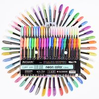 kopya setleri toptan satış-48 Renkler Jel Kalemler Set Yedekler Pastel Neon Metalik Glitter Copic Kroki Için 1.0 Mm Manga Boyama Kitabı Çizim Okul kırtasiye