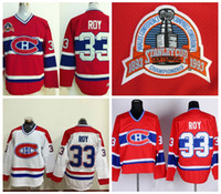 Wholesale vintage canadiens jersey ccm - 1993 Stanley Cup Patrick Roy Montreal Canadiens Hockey Jerseys Vintage CCM Classic 33 Patrick Roy Stitched Jersey Best Quality