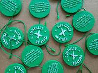 Wholesale media stocks - Wholesale In Stock X Green Circular Tag Plastic Shoe Buckle