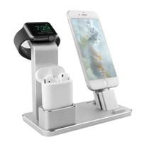 izlemek toptan satış-AirPods için yeni Stil Şarj Dock İstasyonu Standı Tutucu IPad Hava Mini Apple İzle iWatch 38mm 42mm iPhone X 8 7 6 6 S 5 S SE Artı