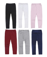 Wholesale children winter tight pant for sale - Group buy 2018 Spring Autumn children colors Leggings Baby girls Warmer Tights kids knitting Elasticity Pants C5548