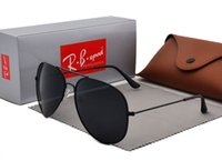 Wholesale semi rimless frames for women resale online - Brand Designer Polarized Sunglasses For Men Women High Quality Pilot Sun Glasses UV400 polaroid lens with Retail case and box