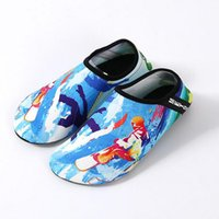 chaussures aux pieds nus pour les enfants achat en gros de-Chaussures d'eau 15colors Diving Beach Mesh chaussures antidérapant Slip-on Barefoot Sports nautiques Peau Chaussures Adultes Enfants Natation Surf Yoga par la niubilité