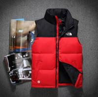 o hoodie para baixo veste o revestimento venda por atacado-Top Quality Inverno homens Para Baixo Hoodies NORTH Casacos de Acampamento À Prova de Vento de Esqui Casaco Quente Para Baixo Casuais Com Capuz Sportswear FACE colete