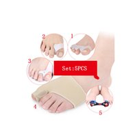 Wholesale shoes for finger for sale - Silicone Insole Orthopedic Shoes Arch Supports For Feet Orthotic Insoles Thumb Valgus Protector Foot Finger Toe Separator C