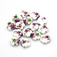 chinesisches porzellanarmband großhandel-200 stücke Gute Qualität Schöne Keramik Porzellan Perlen Mode Armband Halskette DIY Erkenntnisse Chinesischen Schmuck DIY Machen Zubehör