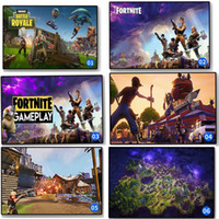 Wholesale canvas paintings wholesalers - 13 colors Fortnite poster Fortnite Battle Royale Game silk Poster Wall Painting Posters Prints on silk Art Wall Pictures 120PCS MMA255