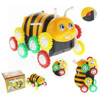 Wholesale smallest car toy for sale - Cartoon Small Bee Modeling Electric Tipping Bucket Honeybee Dumpers Automatic Flipping Children Toy Car Novelty Games yh W