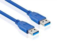 usb yükseltici kablo toptan satış-Hız USB 3.0 A tipi Erkek erkek yükseltici USB Uzatma Kablosu AM AM AM 0.6 m 4.8 Gbps Grafik kartı