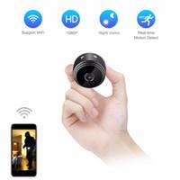 ir dvr home оптовых-WIFI Мини-камера A9 HD 1080P ИК ночного видения мини камеры домашней безопасности видеокамеры велосипед тела DV DVR с магнитным зажимом