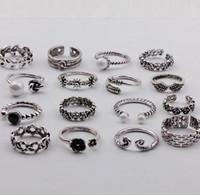 кельтские пары ювелирные изделия оптовых-Кельтский Унисекс S925 Кольца Любителей Сцепления Кольца Группа Кольца - Старинные Ювелирные Изделия, Идея Подарка, Любителей Подарки
