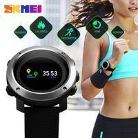 relogios relógios digitais venda por atacado-SKMEI LED Esporte Relógio Inteligente Homens Relógios de Pulso Bússola Eletrônica Cronômetro Colorido Tela Colorida À Prova D 'Água Ao Ar Livre
