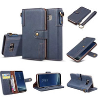 Wholesale Wallet Book Leather Case Cover - Luxury Retro Oil Wax Gorgeous Magnetic Flip wallet leather case cover skin for Samsung Galaxy S8 S8 Plus Note8 book case