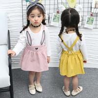 vestido de conejo de algodón animal de verano de las niñas al por mayor-Los niños de alta calidad usan princesa de verano pequeño vestido de conejo de algodón puro animal de la moda Infantil bebé niño niña vestidos