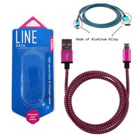 Wholesale colorful cell phone chargers - Usb type charger colorful micro usb cable nylon braided fast charging Cables for Android cell phones samsung HTC with retail box