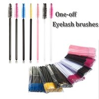 Wholesale make wands for sale - Group buy New arrival cm mini eyelash brush colorful dsposable one off make up tool cosmetic wand makeup applicator eyelash comb