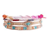 Wholesale brazilian bracelets online - boho stack friendship bracelet spiral knot evil eye glass beads Brazilian stylish bracelet femme bijoux homme pulseras mujer