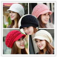 Wholesale free han for sale - Group buy Winter hats han edition tide female cute knitted hat Rabbit fur cap qiu dong the day ladies fashion hat Colors