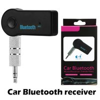 Wholesale handsfree mic car resale online - Universal mm Bluetooth Car Kit A2DP Wireless FM Transmitter AUX Audio Music Receiver Adapter Handsfree with Mic For Phone MP3 Retail Box