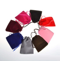 Wholesale vintage sack - Flannelette Bundle pocket Pouch bag Headset Wenwan Gold and silver jewelry Ornaments bag Vintage Style Rope sack T4H0301