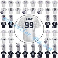 Wholesale Blue Don - Men's 99 Aaron Judge 2 24 Baseball Jersey 23 Don Mattingly 27 Giancarlo Stanton 42 Mariano Rivera Ruth Mantle Cool Base Jerseys