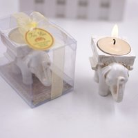 Wholesale lucky elephant candle holders for sale - Group buy Lucky Elephant Candles Holder Christmas Candles Santa House Wax Candles New Year Wedding Party Candle Home Decor light Xmas Gift