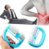 Wholesale mini neck massager resale online - Handheld Full Body Roller Massager Mini Anti Cellulite Massage Wheel Ball Foot Hand Body Neck Head Leg Massagers Pain Relief CCA10146