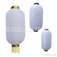ingrosso luci di lanterne di carta bianca-Lanterna Zucca d'Inverno Hanging Ristorante Home Decorare a mano in Giappone Stile Corea Tessuto leggero in seta Lampada pieghevole Lampada di carta bianca 6 5dh4 bb