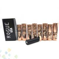 ecig usa großhandel-Rogue USA mechanische Hydrid Mod Messing SS Kupfer Material für 18650 20700 Batterie Vape Mods 4 Arten Ecig DHL frei