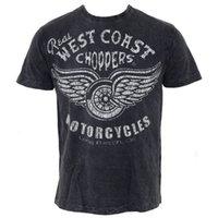 Wholesale chopper man - Herren T-Shirt West Coast Choppers - Real Vintage - Black - Größe XXL