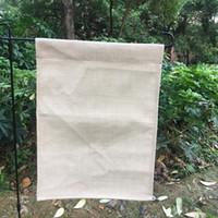ingrosso arredamento per giardino-12x16 bandiera giardino in bianco poliestere giardino bandiera di lino per sublimazione bandiera decorazione bandiera cortile esterno