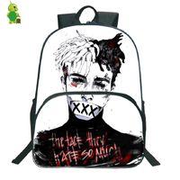 libros grandes al por mayor-Popular Rapper Xxxtentacion mochila mochilas escolares para adolescentes estudiantes mochilas de gran capacidad para hombres mujeres mochila diaria