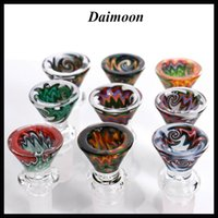 Wholesale Coloured Charms - Coloured glass bowl 14mm 18mm very thick glass bowl for water pipe bong Charming beautiful bowl