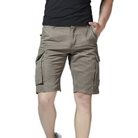 Wholesale beach works clothing for sale - New Men Clothes Men s Casual Pure Color Outdoors Pocket Beach Work Trouser Cargo Shorts Pant Drop Shipping