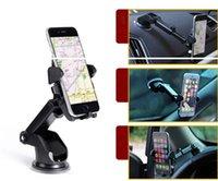 7 'gps montiert großhandel-360 ° Autohalterung Windschutzscheibenhalterung für Mobile Handy für iPhone X iphone 8 7 6 6 s plus Samsung Galaxy Note 9 7 S9 S8 plus GPS