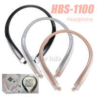 Wholesale hbs neckband headset for sale – best HBS Bluetooth Wireless Headphones HBS1100 With Hard Retail Package CSR Neckband Sports Earphones Headsets with Mic