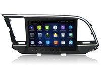 ücretsiz hyundai gps harita toptan satış-1G + 16G Android 6.0 HD Hyundai Elantra için 1024 * 600 Araba DVD Oynatıcı Radyo RDS ile 4G WIFI GPS ücretsiz Harita BT