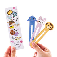 ingrosso segnalibri di carta per i libri-30pcs / lot Cute Animal Farm Paper Bookmark Book Holder multifunzione Kawaii Stationery per i regali dei bambini Materiale scolastico