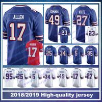 17 Josh Allen Buffalo jerseys Bills 49 Tremaine Edmunds 12 Jim Kelly 23  Micah Hyde 95 Kyle Williams 27 Tre Davious Blanc LeSean McCoy 932c091eb