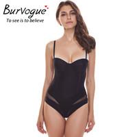 elbise şekillendiriciler toptan satış-Burvogue Shapewear Kadınlar Sexy Seamless Body Briefer Şekillendirme Bodysuit Zayıflama Karnındaki Bel Kontrol Shapers İç Çamaşırı Elbise için