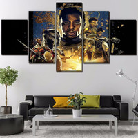Wholesale Canvas Printed Movie Poster Black Panther Pieces Wall Art Canvas Painting Home Decorative Modern Living Room Artwork Cuadros