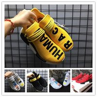 Wholesale running tri - 2018 NMD Runner human race Primeknit PK Tri-Color Red white blue Men Women Running Shoes Classic sports Shoes Sneakers us 36-45