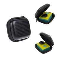 kamera pro held schwarz großhandel-Tragbare Mini Box EVA Tasche Für Xiaomi Yi 4 Karat Lite GoPro Hero 6 5 4 Schwarz H9 Action Kamera Fall Für Yi Go Pro Zubehör