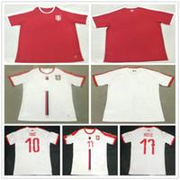 2018 Serbia Football Jersey 9 MITROVIC 10 TADIC 11 KOLAROV 20 SERGEJ 21  MATIC KOSTIC IVANOVIC Custom Home White Red Srbija Soccer Shirt ac86cfe79