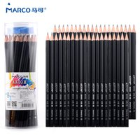 marco eskiz kalemi toptan satış-Marco 50 adet Eskiz Kalemler Lapis De Cor Balck Kalem Çizim Eskiz Için Çizim Kırtasiye Kalem Sanat Ofis Okul Malzemeleri